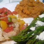Gulf Coast Grouper w/ Asparagus & Mashed Sweet Potatoes