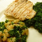 Salmon, Spinach & Cannellini Bean Dinner