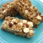 Ginger & White Chocolate Granola Bars
