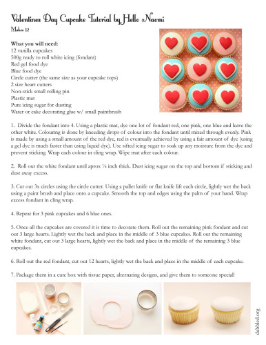 Decorating Cupcakes with Fondant for Valentines Day