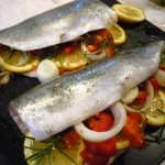 Rainbow Trout baked in Parchment