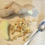How to peel ginger root