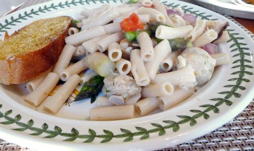 Seafood Sausage Penne Pasta