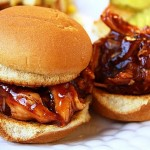 Yum! BBQ Pulled Chicken Sandwiches from The Comfort of Cooking.   Apparently easy AND tasty!