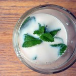 Soak your mint overnight in 2 cups milk