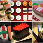 sushi cake and cupcakes