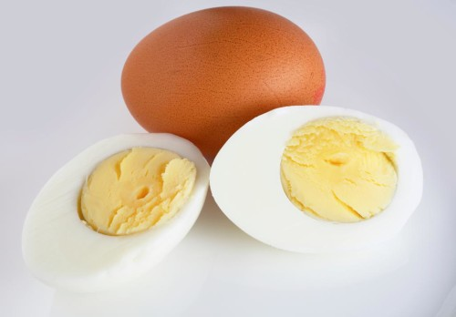 Hard-Cooked Eggs: Eggs with a firm white and a solid cooked yolk