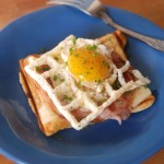 A Waffled Croque Madame
