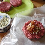 How to Stuff Burgers:  Bacon and Blue Cheese
