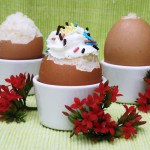 cake filled eggs