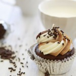 Cupcakes with Almond Butter and Nutella Icing