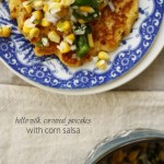 Buttermilk, Cornmeal Pancakes with Corn Salsa