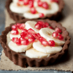 Chocolate Tart with Banana & Pomegranate