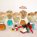 Christmas Matcha Granita With NuStevia Chocolate Toppings