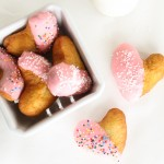 homemade heart shaped donuts... cute for valentine&#039;s!