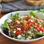 Lentil Salad w/ Roased Red Pepper Dressing