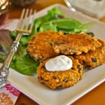 Sweet Potato, Black Bean and Quinoa Cakes