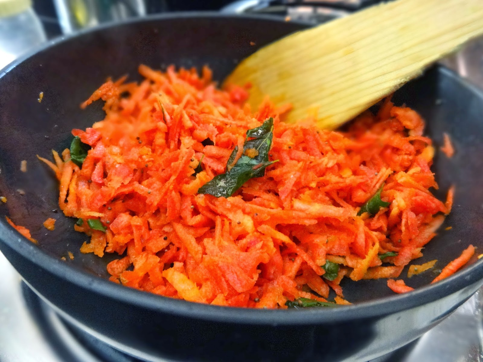 Carrot salad- South Indian style!   Foodwhirl