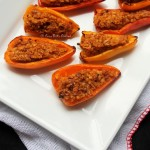 BulgurWheatStuffedMiniBellPeppers