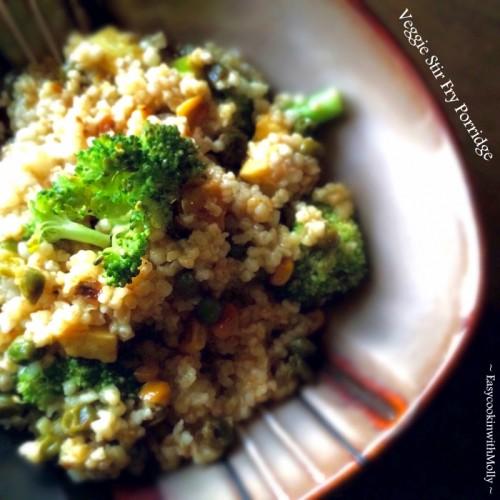 Veggie Stir Fry Porridge