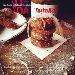 No bake Nutella and white chocolate chips cookies