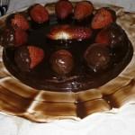 Eggless Vanilla Cake With Chocolate Ganache