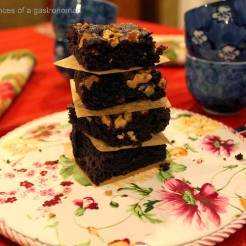 Gluten free choclate walnut brownie