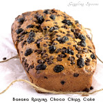 Banana Raisins Choco Chips Cake