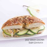 pear chicken bagel sandwich