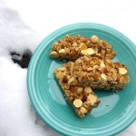 White Chocolate & Ginger Granola Bars for Foodwhirl