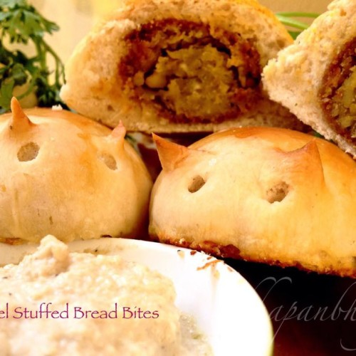 Falafel Stuffed Bread Bites