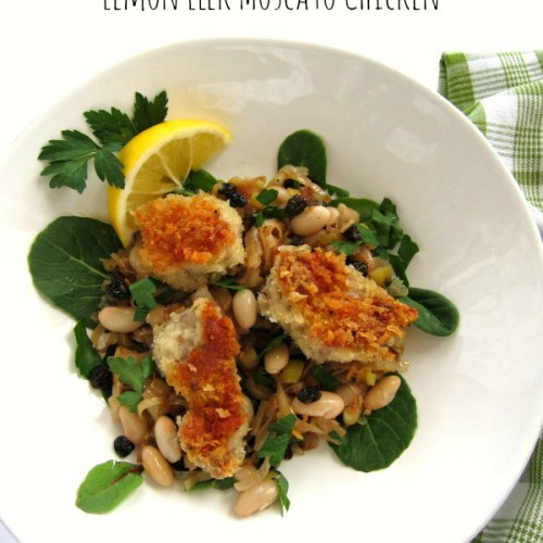 Lemon Leek Moscato Chicken