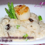 Pan Seared Hokkaido Scallop Risotto With Truffle Oil