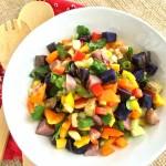 Grilled Rainbow Potato Salad