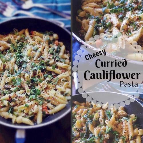 Cheesy Curried Cauliflower Pasta