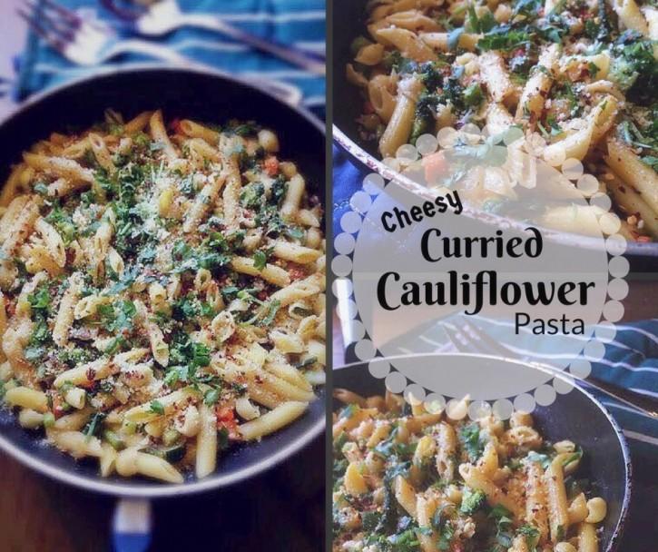 Cheesy Curried Cauliflower Pasta