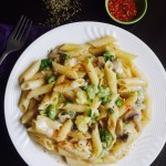 PENNE PASTA IN HEALTHY WHITE SAUCE WITH LEMON BASIL