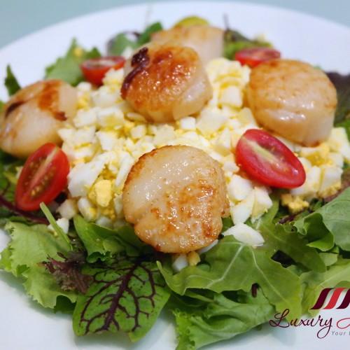 Succulent Pan Seared Hokkaido Scallops Salad
