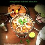 Dhaniya masala chole with Tawa naan