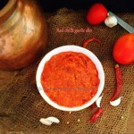 Red chilli garlic dip