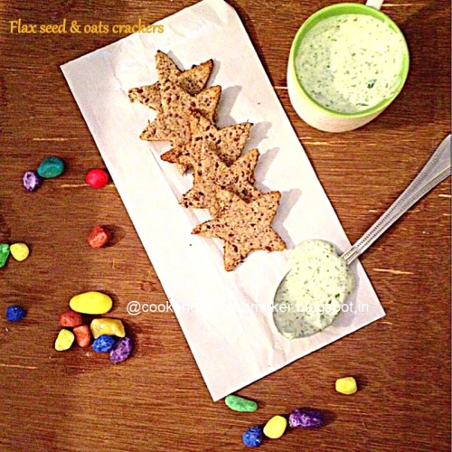 Flax seeds   oats crackers