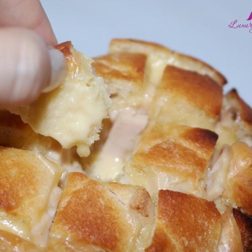 Yummy Cheesy Garlic Bread with Mushroom Ham In Just Minutes