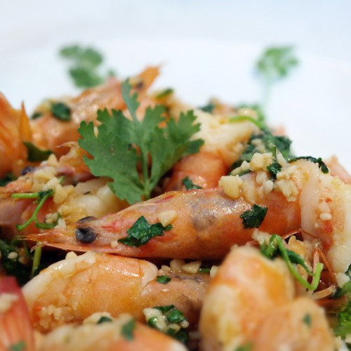 Lemon Butter Garlic Prawns