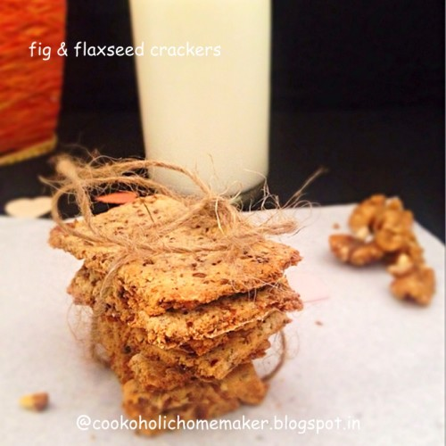 Fig   flaxseed crackers
