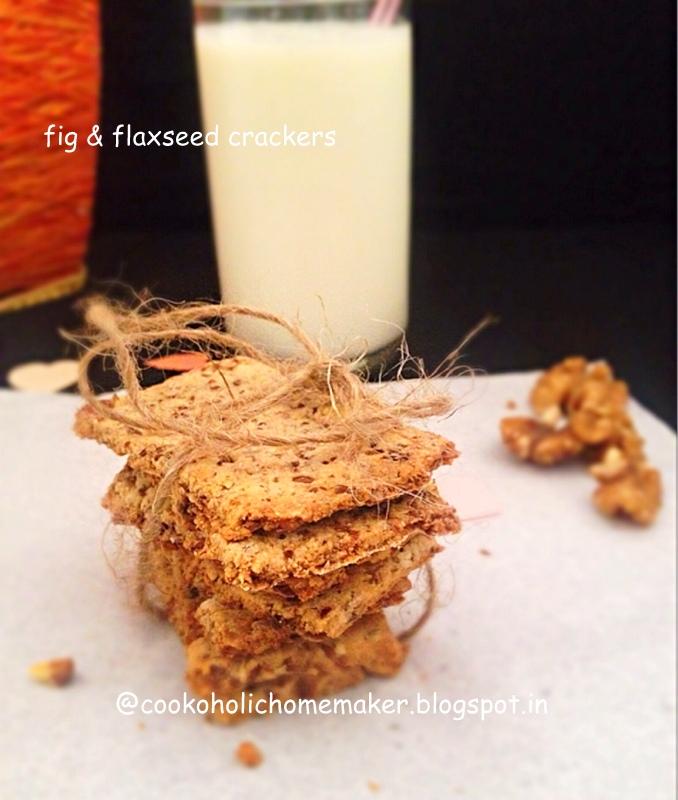 Fig   flaxseed crackers