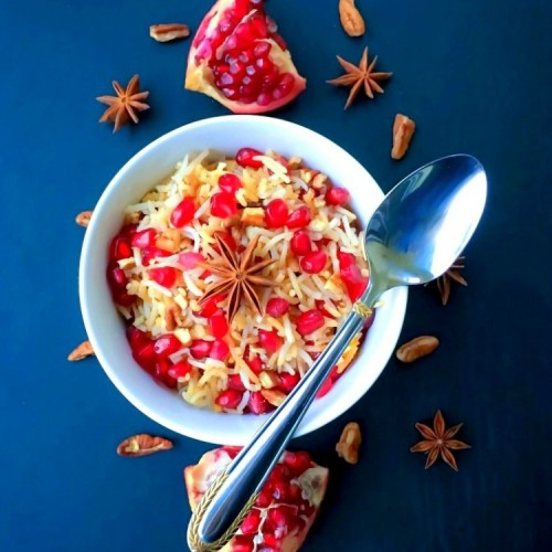 Best Ever Pomegranate Pecan Rice