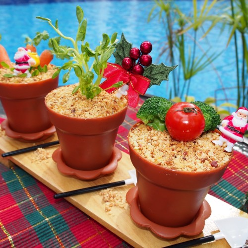 Christmas Potted Plants Potato Salad Potluck Recipe