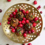 Sweet n Spicy Meatballs with Cranberries