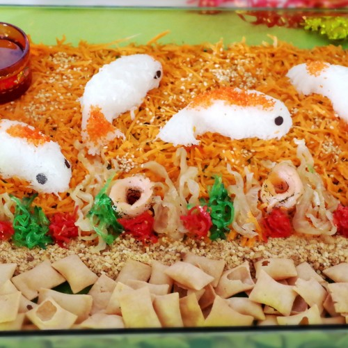 Chinese New Year Salmon Yu Sheng with Jellyfish