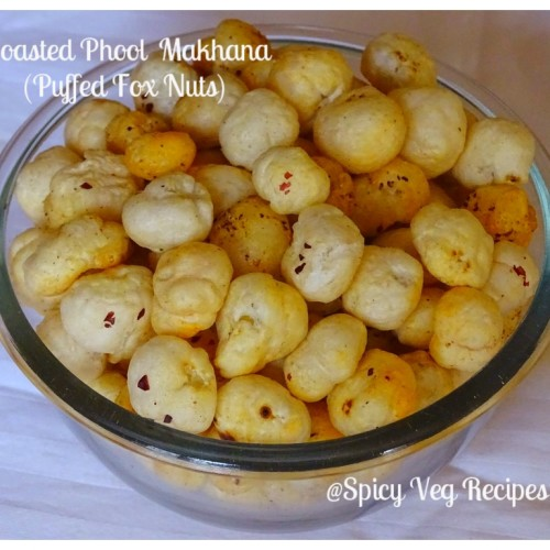 Roasted Phool Makhana Recipe   Lotus Seed Fox nuts